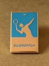 Very Rare London 2012 Olympic Pin Badge Badminton Sport Logo Pictogram