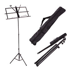 New Black Adjustable Folding Sheet Music Stands with Bag