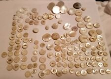 Antique Vintage Stone Shell Bone ABLONE Buttons Rare sizes Mother of Pearl 150