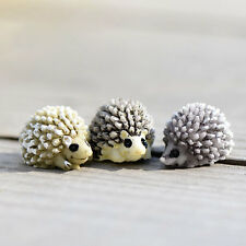 Hedgehog for Miniature Fairy Garden Ornament Dollhouse DIY Craft Plant Figurine