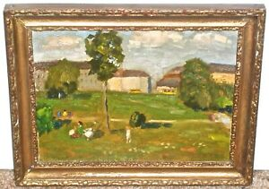 Tamas Lossonczy Impressionist Figures in Landscape