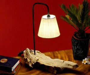 Driftwood Table Lamp 45 CM Antique Wood Desk Floor Cottage
