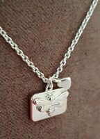 Ladies 925 Sterling Silver Bumble Honey Bee Heart Pendant Necklace Chain