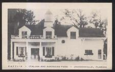 Postcard JACKSONVILLE Florida/FL  Patti's Italian Restaurant 1930's