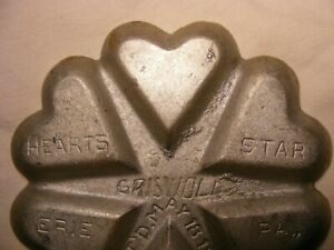 >>> Griswold Aluminum No.50 / No.801 Heart & Star Pan  good condition