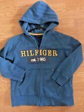 Tommy Hilfiger Boy Hoodie Size 6 Blue Real Yellow Sweatshirt TH Kids