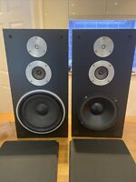 Rare Technics SB-3130 Hifi Speakers in Black Vintage.