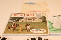 Mount Vernon View Master Three Reels + Booklet Vintage Set