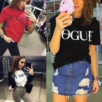 Women Casual Blouse Vogue Short Sleeve Fashion T Shirt Loose Short Dress Tops
