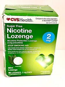 Cvs Health Sugar Free Nicotine Lozenge 2mg Mint 96pcs EXP 6/21