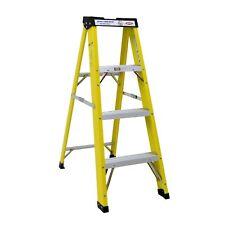 NEW! Heavy Duty Electricians Fibreglass Step Ladder 4 Tread EN131