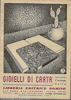 Catalogo della libreria editrice DOMINO - GIOIELLI DI CARTA N. 2 / 1946