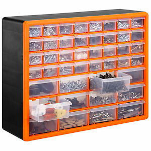VonHaus 44 Multi Drawer Organiser Nail Bolt Screw Craft Bit Storage Cabinet Unit