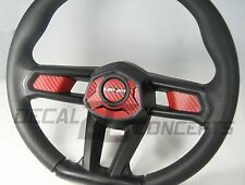 Can-Am Maverick X3 RED Carbon Fiber Steering Wheel Dress Up DecaI Inlay Kit