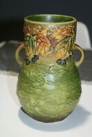Vintage Roseville Pottery Blackberry 2-Handle Vase