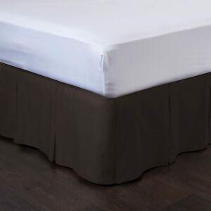 Detachable Bedskirt Easy On/Easy Off Pleated Bed Skirt - Blissford