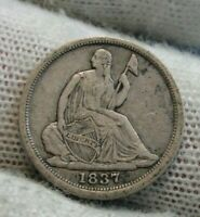 1837 Seated Liberty Half Dime H10C,  Nice Coin, Free Shipping (9560)