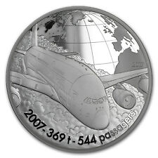 2017 5 oz Silver Aviation & History (Airbus A380)