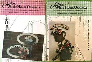 """2 Tole Painting projects by Julie's White House """" Watering Can"""" & Spring Ovals"""""""