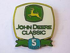 John Deere Classic Pga Golf Tournament 5 Years Lapel Hat Pin Leaping Deer Logo