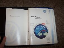 2001 Volkswagen VW Passat Sedan Owner Owner's User Guide Manual GLX 2.8L V6
