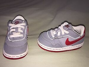 NIKE AIR FORCE 1 TODDLER 6C GRAY RED WHITE USED