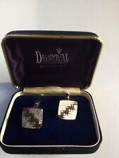 shape in silver and gold. Boxed. Diamond Cut Cufflinks from Debenhams. Square