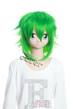 W-107 Vocaloid megpoid Gumi cosplay peluca Wig verde Green 35cm calor fijo anime