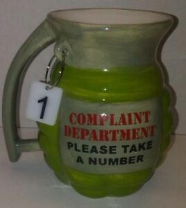 Grenade Coffee Cup Mug Complaint Department Office Desk Display Boss Funny Gift!