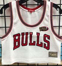 Mitchell & Ness Chicago Bulls (NBA)Women's White Mesh Crop Tank Size Small NEW