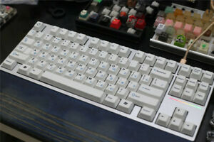 White Blue Russian Letters Keycap PBT Key Caps For Cherry MX Mechanical Keyboard
