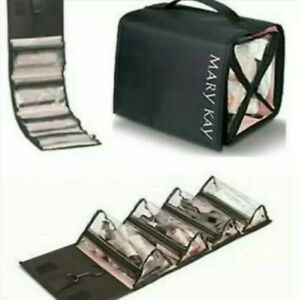 Mary Kay Travel Roll Up Bag Brand New Solid Black Makeup Skin Care Retail $35