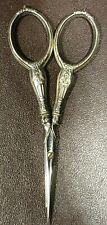 Ancien ciseaux de couture argenté, longueur 9 cm #1489