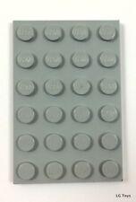 Lego 4x (parte 3032) Placa de 4 X 6 gris claro