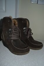 Tamaris Ladies Size 37  Warm Lined Suede Leather Boots in Brown