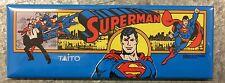 Superman Arcade Game Marquee Fridge Magnet