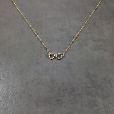 Glasses GOLD Plated Necklace Gift Box Spectacles Optical Eyesight Eyes Pupils