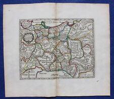 Original antique map CENTRAL EUROPE, POMERANIA, 'SUEVIA', Cluver, c.1697