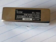 ICOM SSB FILTER FL 103 FOR IC 706MKIIG