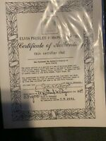 Elvis Presley Personal Property Green And Floral Sheets & Museum Collec.. Mag.