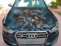 Vinyl Car Hood Wrap Full Color Graphics Star Wars Han Solo Chewbacca Sticker