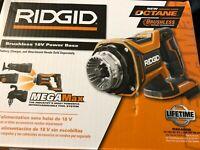 Ridgid Brushless Power Base Interchangable System Tool Only 18-Volt OCTANE