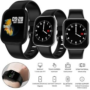 Men Women Touch Screen Heart Rate Monitor Bracelet for iPhone Samsung LG Android