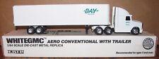 Bay Cartage Company Mich White GMC Aero Semi Truck & Trailer 1/64  Ertl Toy 1993