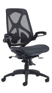 New Napier Full Mesh Office Chair Pivot Arms Lumbar Support
