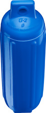 Blue Polyform G2 Boat Fender 4.5'' x 15.5'' Bumper Ribbed Vinyl Twin Eye USA New