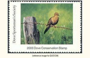 Quail Unlimited Dove Conservation Stamp 2003 *SALE*
