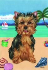 Beach House Flag - Yorkshire Terrier Yorkie Pup 69108