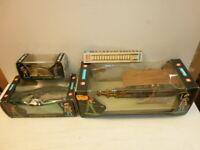 Hausser Elastolin Belagerungsgeräte 9804 4 + 9810 4 + 9812 4 + 9887 4 zu 4cm OVP