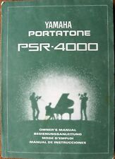 Yamaha PSR-4000 Workstation Keyboard Original Betriebsanleitung Buch, sehr groß!